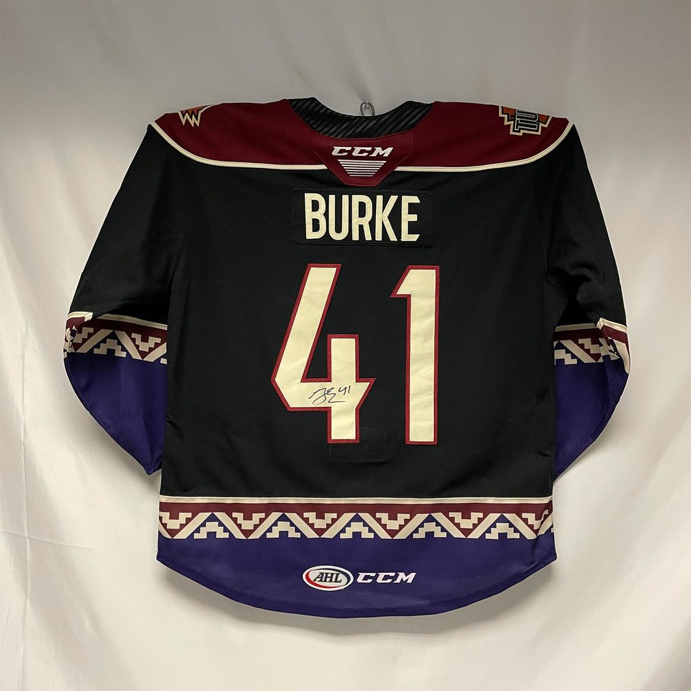 2020-21 Tucson Roadrunners Third Jersey Worn and Signed by #41 Brayden Burke