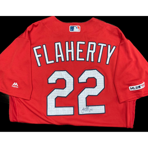 Photo of Jack Flaherty Autographed Team Issued Batting Practice Jersey (Size 46)