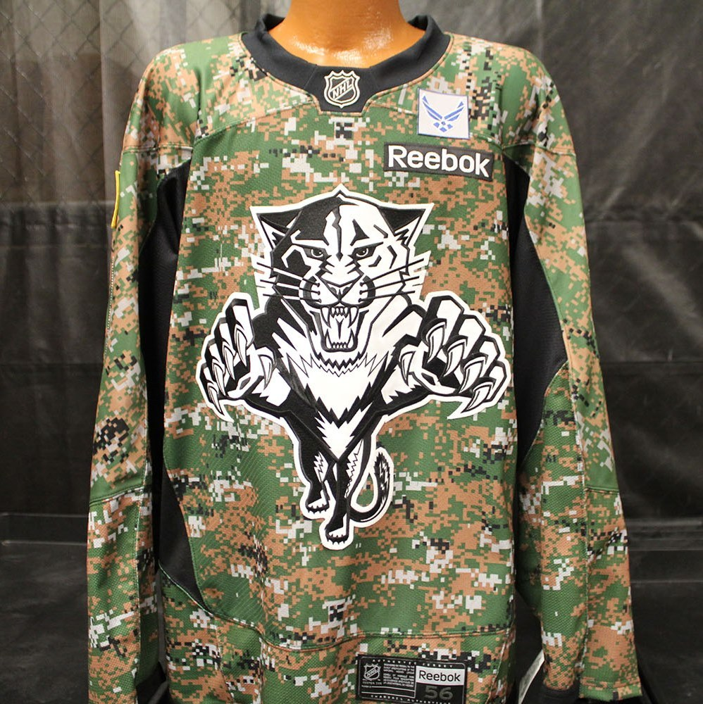 separation shoes 74050 9df50 28 Garrett Wilson Military Jersey - Florida Panthers 2015 ...