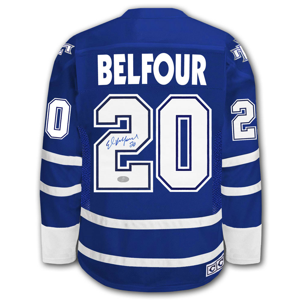 great fit 1bf96 4c485 Ed Belfour Toronto Maple Leafs CCM Autographed Jersey - NHL ...
