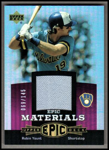 Photo of 2006 Upper Deck Epic Materials Light Purple #RY1 Robin Yount Jsy/145