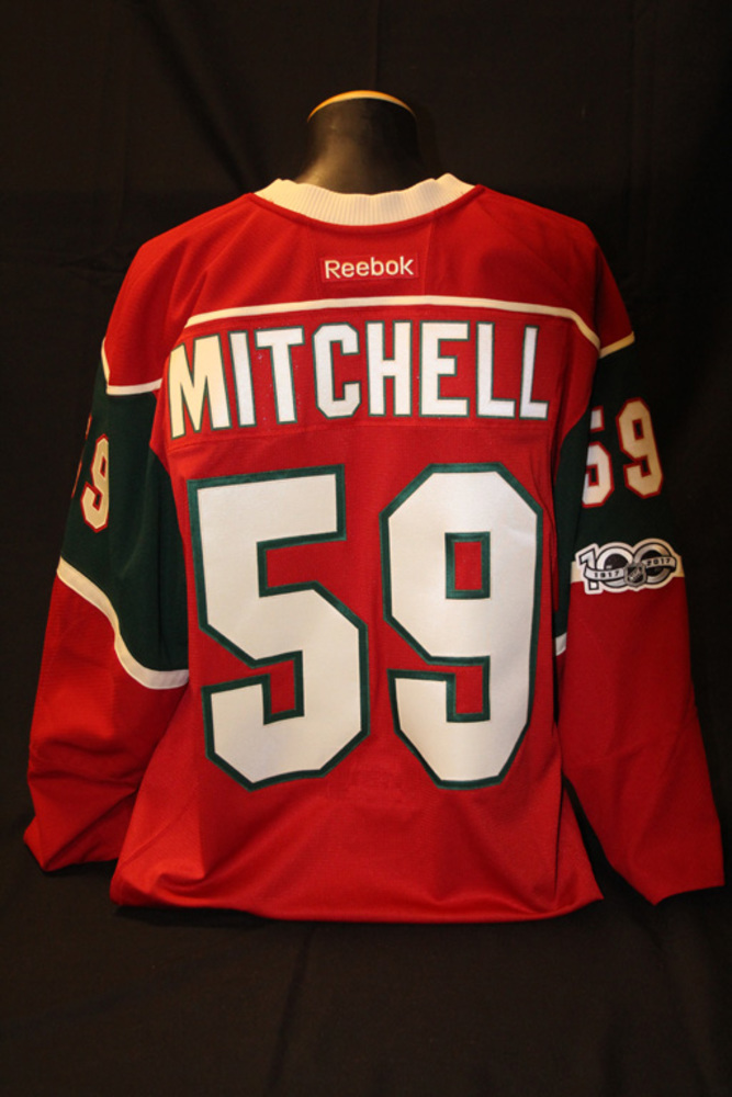 Authentic Red #59 Zack Mitchell Jersey