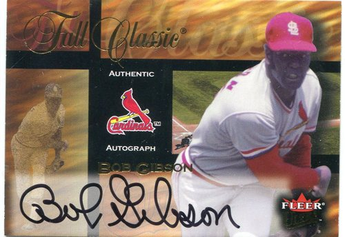 Photo of 2002 Ultra Fall Classic Autographs #5 Bob Gibson -- Hall of Famer