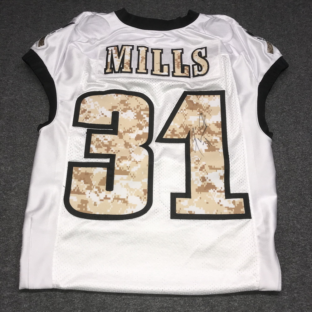 EAGLES - Jalen Mills SALUTE TO SERVICE SIGNED PRACTICE WORN JERSEY NOVEMBER  2017 WITH CAMO NUMBERS 2cf927169