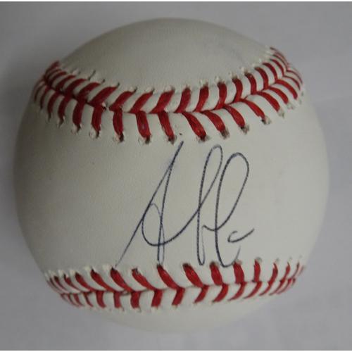 Photo of Ozzie Albies Autographed Baseball