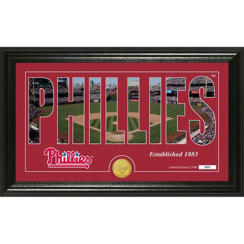 "Photo of Serial #1! Philadelphia Phillies ""Silhouette"" Panoramic Bronze Coin Photo Mint"