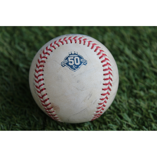 Photo of Game-Used Baseball: Carlos Rodon Pitched Strikeout to Alcides Escobar (CWS @ KC - 9/12/18)