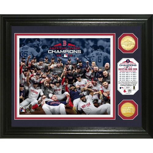 Photo of Boston Red Sox 2018 AL Champions Celebration Bronze Coin Photo Mint