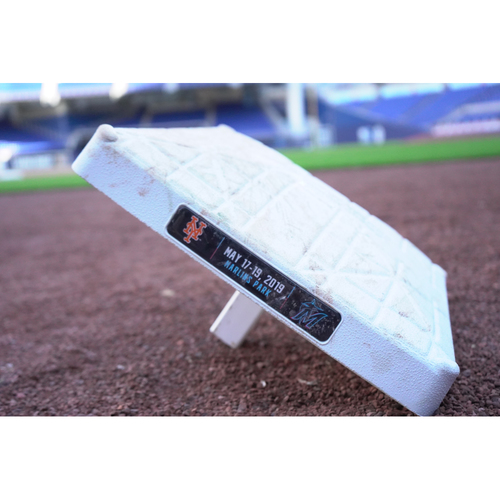 Game-Used Base: Mets @ Marlins (May 17, 2019) 1st Base, 1st-3rd inn.