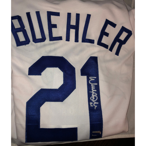 Photo of Walker Buehler Authentic Autographed Los Angeles Dodgers Jersey - Size 48