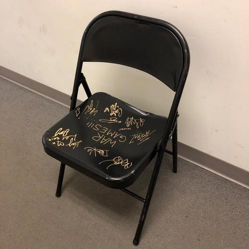 USED & SIGNED Steel Chair (NXT WarGames 2019 - 11/23/20)