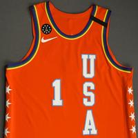 Zion Williamson - 2020 NBA Rising Stars - Team USA - Game-Worn 1st Half Jersey