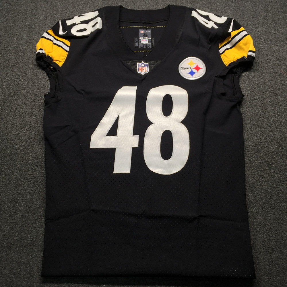 Crucial Catch - Steelers Bud Dupree Game issued Jersey 2018 Season Size 42