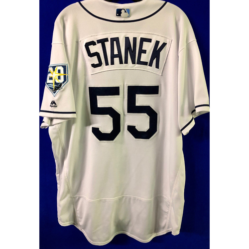 Photo of Game Used Jersey: Ryne Stanek (1.0IP, 2 SO) - Worn as Opener - Five Games - September 24-28, 2018 v NYY & TOR