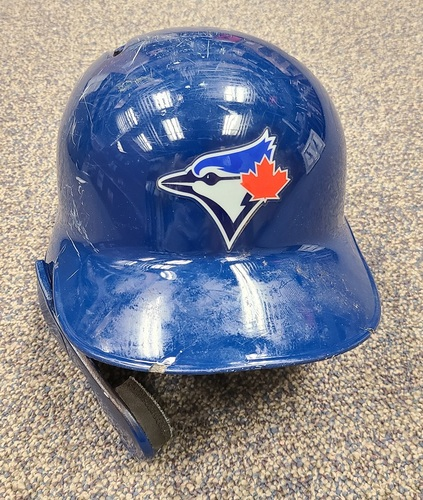 Photo of Authenticated Game Used Helmet: #16 Freddy Galvis (Jun 29, 19: 0-for-4). Size 7 3/4.