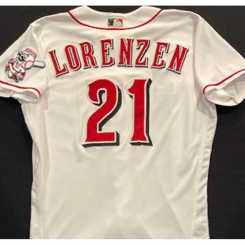 Photo of Michael Lorenzen -- 2020 Home White Jersey -- Team Issued -- Size 44
