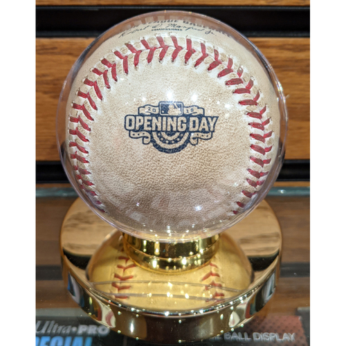 Photo of 2015 Opening Day Red Sox vs. Nationals Game Used Baseball