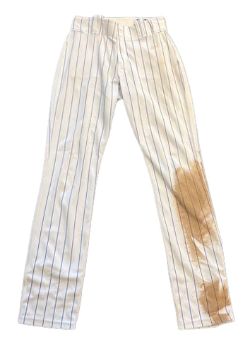 Photo of Matt Duffy Game-Used Pants -- Brewers vs. Cubs -- 4/24/21 -- Size 32-37-35