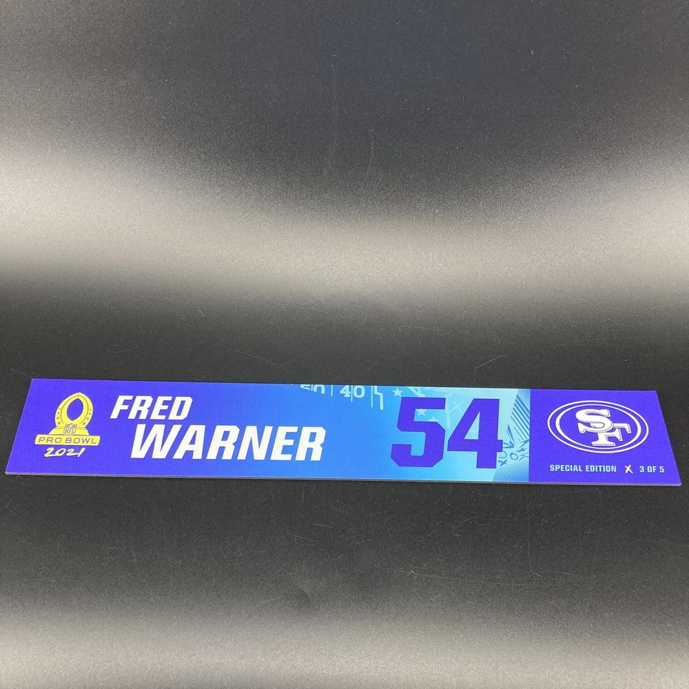 NFL - 49ers Fred Warner 2021 Pro Bowl Locker Nameplate Special Edition #3 of 5