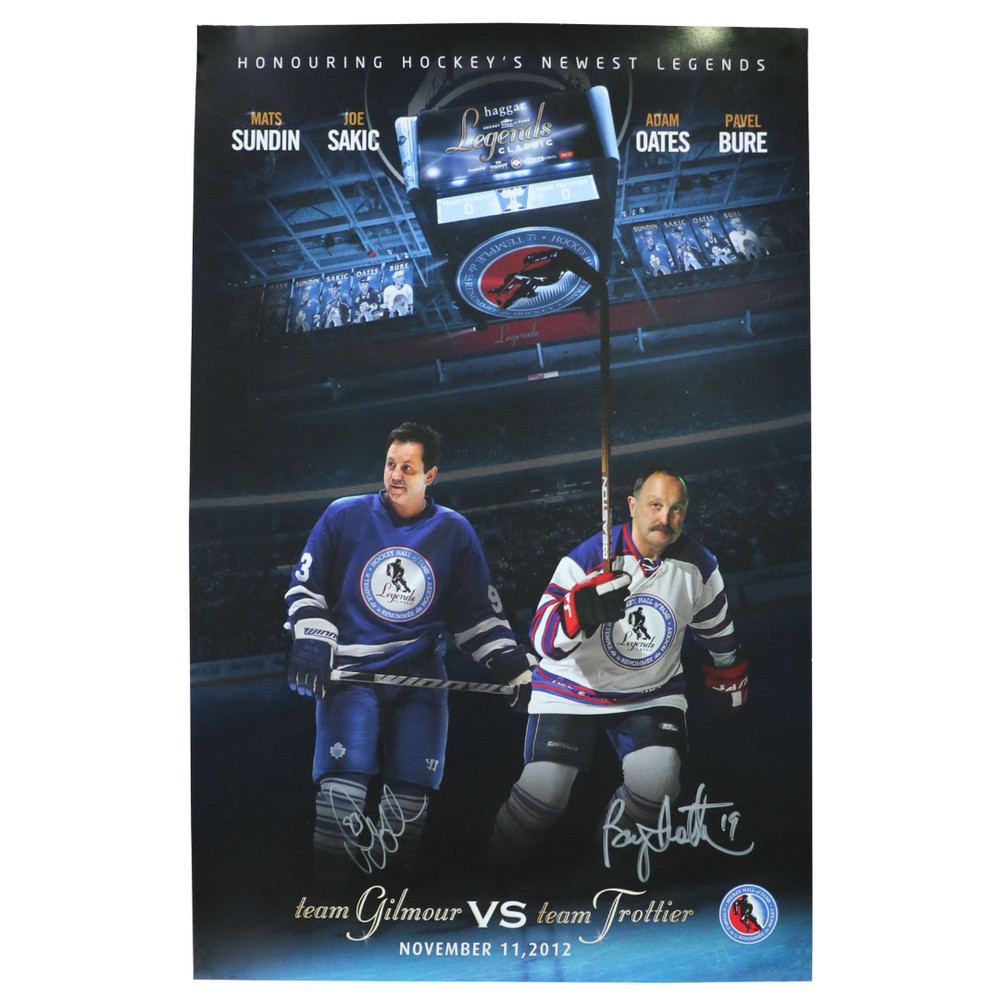 Bryan Trottier & Doug Gilmour - 2012 Legends Classic Signed Poster - Limited Edition