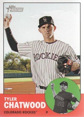Photo of 2012 Topps Heritage #33 Tyler Chatwood