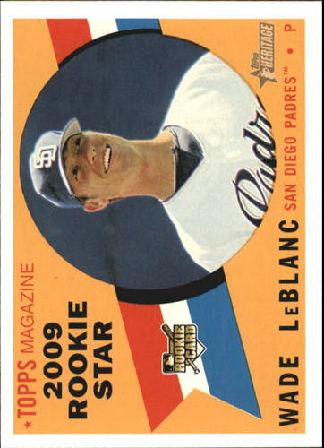 Photo of 2009 Topps Heritage #141 Wade LeBlanc RC