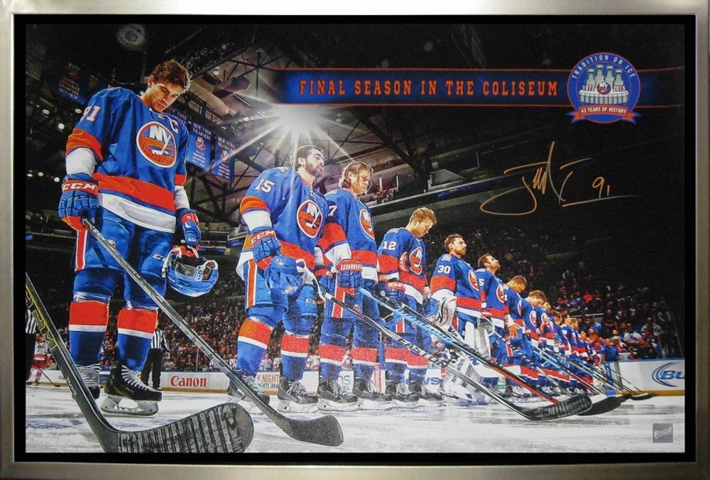 John Tavares - Signed & Framed 20x29 NY Islanders Canvas - Final Season Line Up