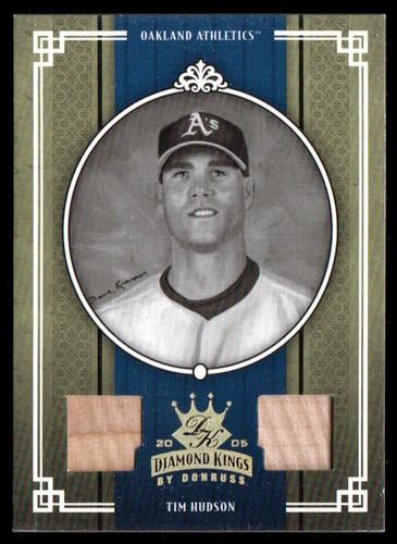 Photo of 2005 Diamond Kings Materials Gold B/W #165 Tim Hudson Bat-Bat/50