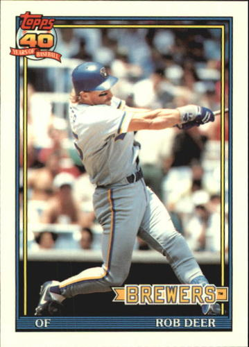 Photo of 1991 Topps Tiffany #192 Rob Deer