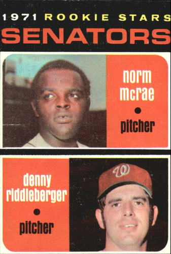 Photo of 1971 Topps #93 Rookie Stars/Norm McRae/Denny Riddleberger