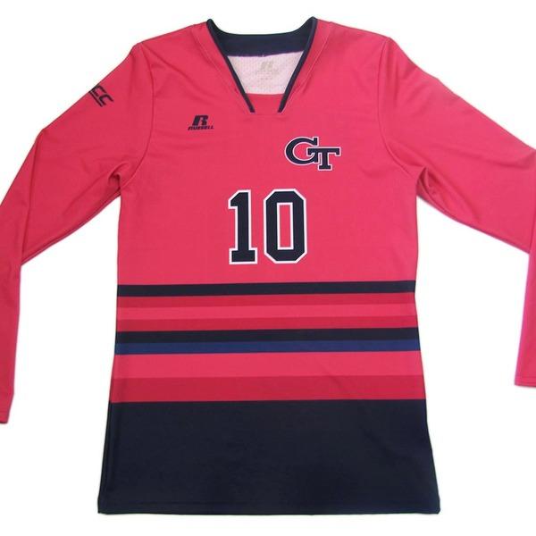Photo of Georgia Tech 2016 Women's Volleyball Pink #10 Game Worn Jersey (M)