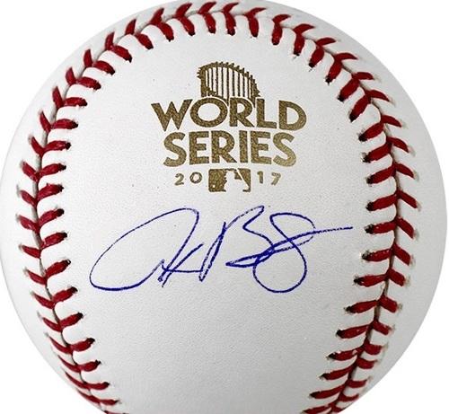 Alex Bregman Autographed 2017 World Series Baseball (Presale)
