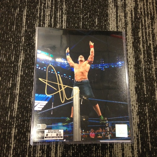 John Cena SIGNED 8 x 10 Limited Edition WrestleMania 33 Photo (#1 of 33)