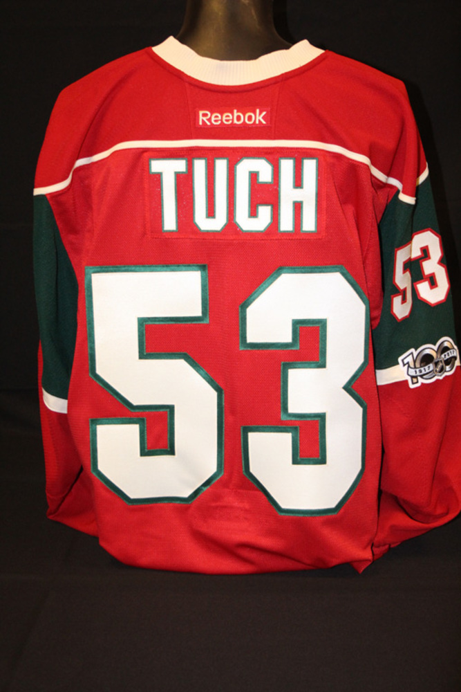 huge discount 10c34 fb823 Authentic Red #53 Alex Tuch Jersey - NHL Auctions
