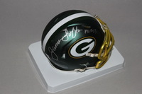 HOF - PACKERS JAMES LOFTON SIGNED PACKERS BLAZE MINI HELMET