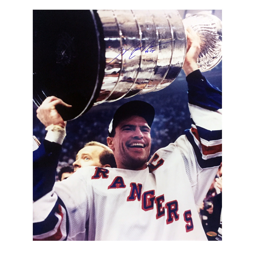 MARK MESSIER Signed New York Rangers inscribed 94 CUP 16 X 20 Photo - 79091