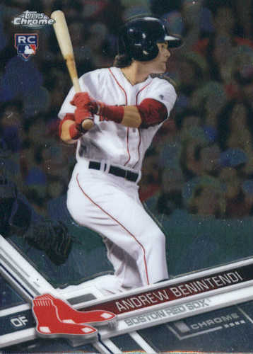 Photo of 2017 Topps Chrome #100A Andrew Benintendi Rookie Card