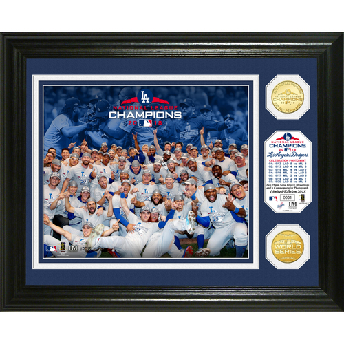 Photo of Los Angeles Dodgers 2018 NL Champions Celebration Bronze Coin Photo Mint