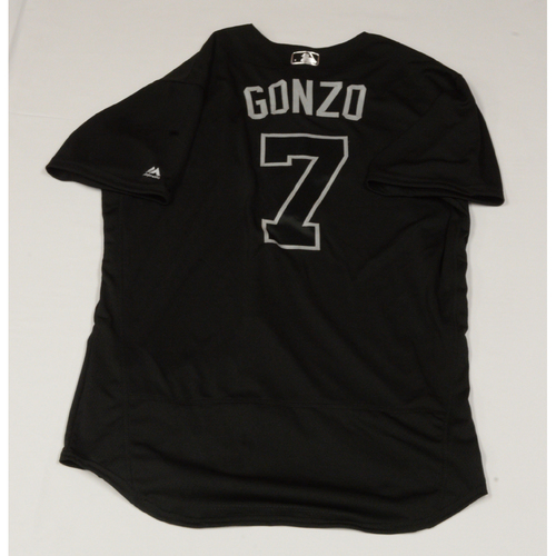 """Photo of Marco """"GONZO"""" Gonzales Seattle Mariners Game-Used 2019 Players' Weekend Jersey"""