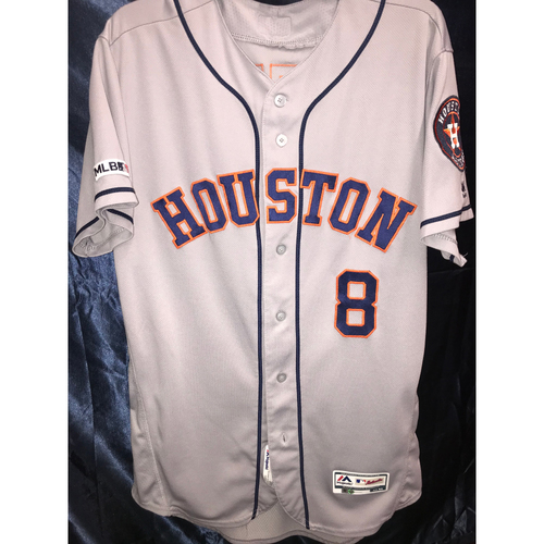 Photo of 2019 Game-Used Gary Pettis Road Gray Jersey (Size 44)
