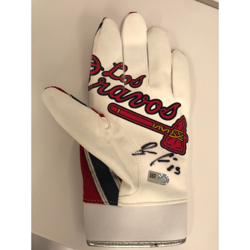 Photo of Ronald Acuña Jr. MLB Authenticated Autographed Los Bravos Batting Glove