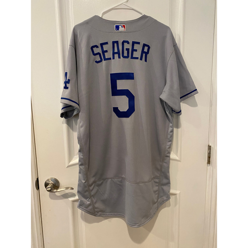 Photo of Corey Seager Authentic Game-Used Jersey from 8/16/20 Game vs LAA - Size  46