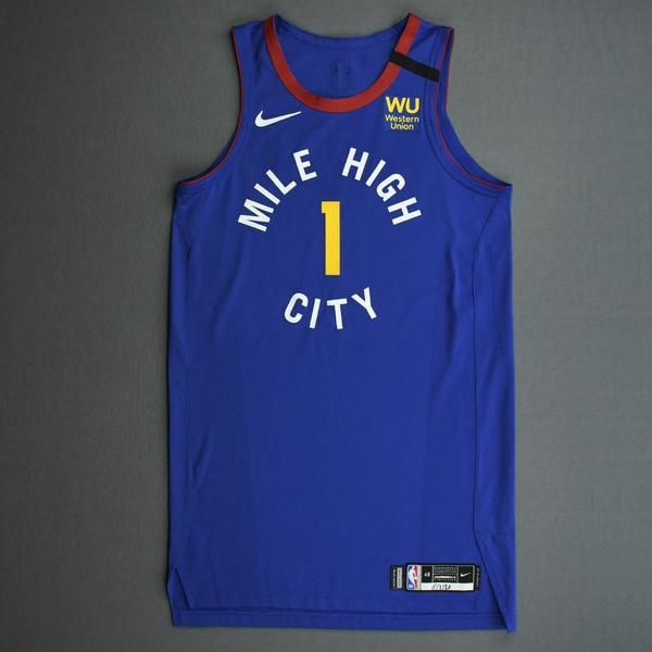 Image of Michael Porter Jr. - Denver Nuggets - Game-Worn Statement Edition Jersey - 2019-20 NBA Season Restart with Social Justice Message