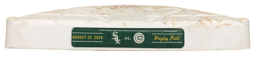 Photo of Game-Used 2nd Base -- Used in Innings 1 through 4 -- White Sox vs. Cubs -- 8/23/20