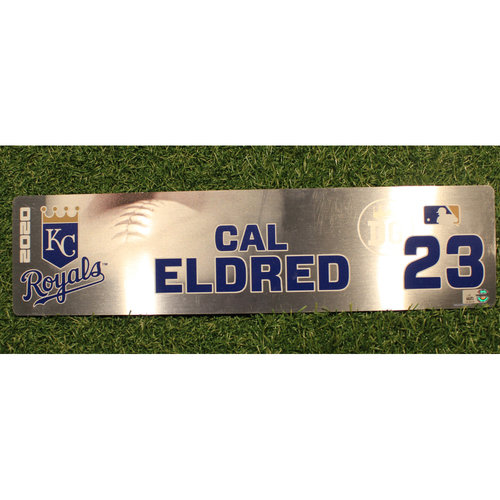 Photo of Game-Used Locker Tag: Cal Eldred #23 (DET @ KC 9/24/20)