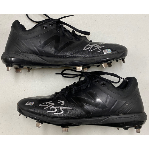Photo of 2020 Black Friday Sale - #73 Caleb Baragar Team Issued Autographed Black New Balance Cleats - Size 12