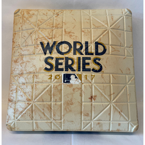 Photo of 2017 World Series Game 3 - Los Angeles Dodgers at Houston Astros - Game-Used 1st Base - Used innings 6 - 9