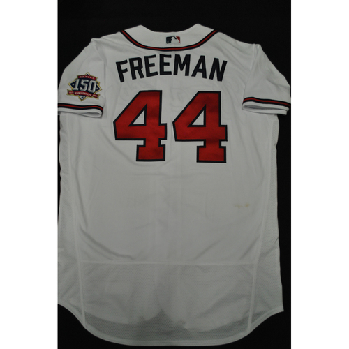 Photo of Hank Aaron Chasing the Dream Foundation: Freddie Freeman 2021 MLB All-Star Workout Day BP-Worn # 44 Jersey