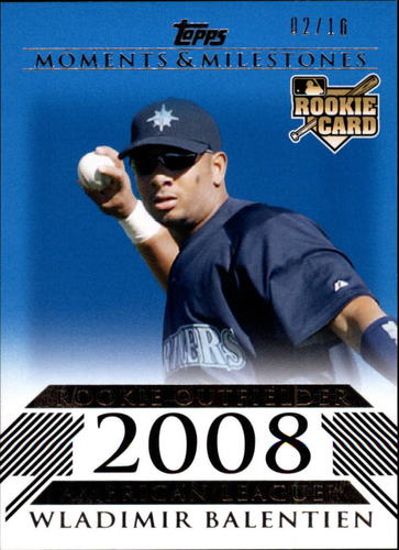 Photo of 2008 Topps Moments and Milestones Blue #173 Wladimir Balentien