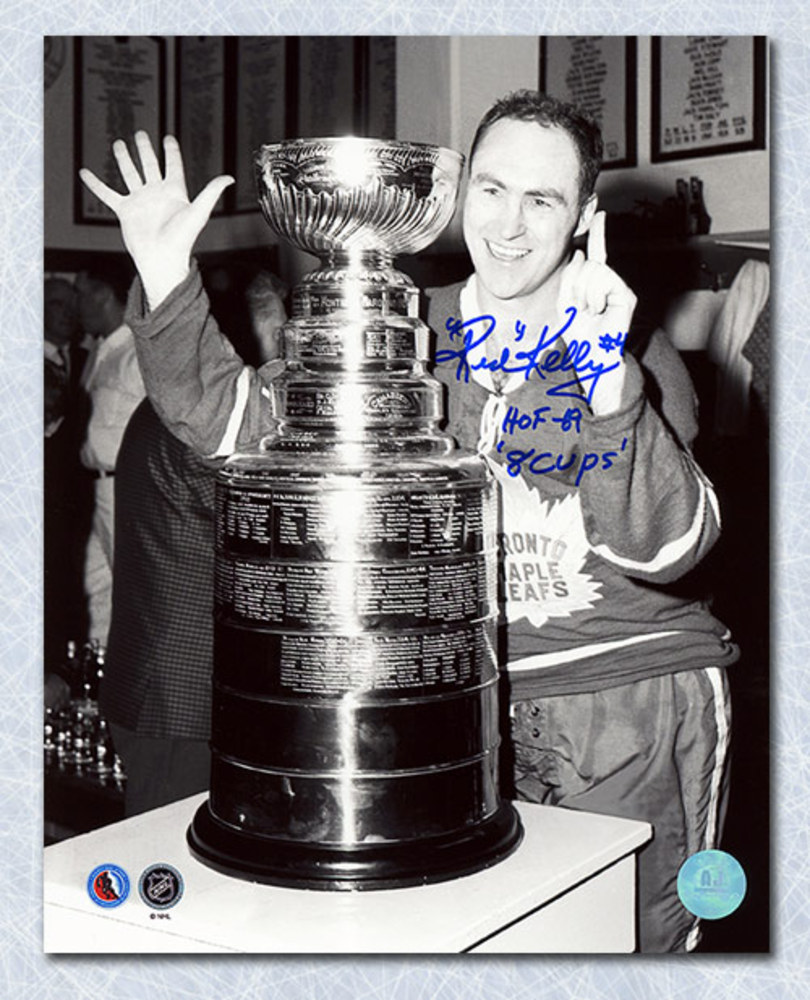 Red Kelly Toronto Maple Leafs Autographed Stanley Cup 8x10 Photo